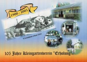Postkarte anlässlich des 105-jährigen Jubiläums des KGV Erholung