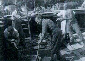 Wiederaufbau des Vereinshauses 1952